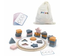 Lavinamoji medinė dėlionė | Formos ir spalvos | PolarB | Viga 44050