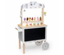 Didelė medinė cukrainė ir ledų parduotuvė ant ratų | Viga 44550