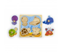 Medinė dėlionė | Jūros gyvūnai | Viga 50132