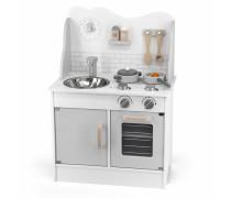 Medinė vaikiška pilka virtuvėlė su priedais | PolarB | Viga 44049