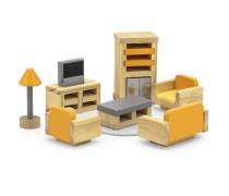Mediniai baldai lėlių namams | Svetainė | PolarB | Viga 44037
