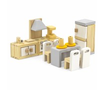 Mediniai baldai lėlių namams | Virtuvė | PolarB | Viga 44038