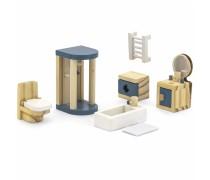 Mediniai baldai lėlių namams | Vonios kambarys | PolarB | Viga 44039