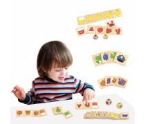 Medinis domino stalo žaidimas | Spalvos | Viga 44505
