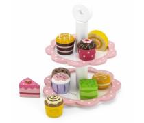 Medinis serviravimo indas su pyragėliais 9 vnt. | Viga 44544