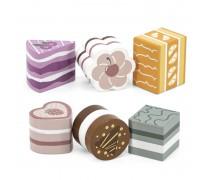 Žaislinis medinių pyragėlių rinkinys 6 vnt. | PolarB | Viga 44055
