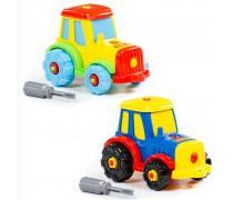 Konstruktorius 20 detalių | Traktorius su atsuktuvu | Wader 77769