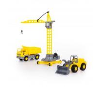 Rinkinys - sunkvežimis, buldozeris ir kranas | Wader 57150WQT