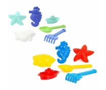 Smėlio žaislai - kastuvėlis, grėbliukas ir formelės | Wader 36285