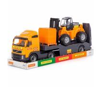 Volvo sunkvežimis - vilkikas 75 cm su šakiniu krautuvu | Wader 58409