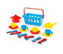 Žaislinis indų rinkinys krepšelyje 23 vnt. | Wader 54975