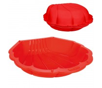 Smėlio dėžė su dangčiu 2in1 | Raudona jūros kriauklė 1 vnt | Woopie 31484