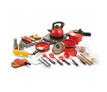 Didelis virtuvėlės rinkinys su priedais 36 vnt. | Šviesos ir garso efektai | Woopie 30661