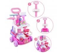 Dulkių siurblys su siurbimo funkcija ir vežimėliu su priedais | Interaktyvus | Woopie 30036