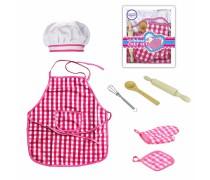 Mažojo šefo rinkinys - prijuostė ir virtuvės reikmenys 7 vnt. | Woopie 30470
