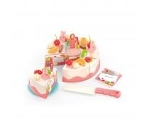 Šviečiantis pjaustomas tortas su papuošimo priedais 40 vnt. | Woopie 29672