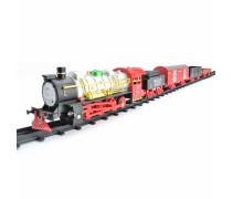 Traukinių trasa 460 cm su šviesos ir garso efektais | 29 detalės | Woopie 30449