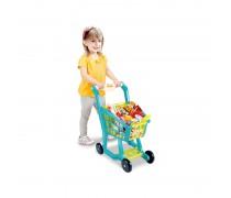 Vaikiškas pirkinių vežimėlis su melodija ir priedais 27 vnt. | Woopie 29726