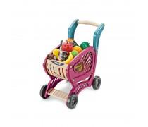 Vaikiškas pirkinių vežimėlis su priedais 42 vnt. | Woopie 29931