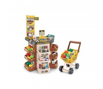 Žaislinė parduotuvė su vežimėliu ir priedais 47 vnt | Supermarketas | Woopie 29863