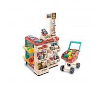 Žaislinė parduotuvė su vežimėliu ir priedais 48 vnt | Supermarketas | Woopie 29979