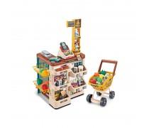 Žaislinė parduotuvė su vežimėliu ir priedais 48 vnt | Supermarketas | Woopie 29986