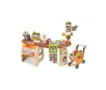 Žaislinė parduotuvė su vežimėliu ir priedais 65 vnt | Šviesos ir garso efektai | Woopie 29818