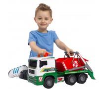 Didelis MAN sunkvežimis 45,7 cm su konteineriu | Air Pump Action | Dickie 3809002