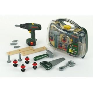 Bosch įrankių rinkinys su elektriniu atsuktuvu dėžutėje | Klein