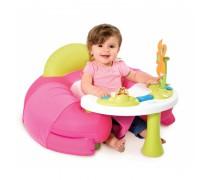 Interaktyvus rožinis fotelis su staliuku | Cotoons | Smoby