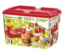 Žaislinis greito maisto rinkinys iškylai 36 vnt | Fast food | Ecoiffier