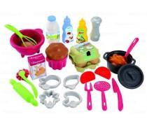 Žaislinių indų ir maisto rinkinys | 26 priedai | Ecoiffier 2617