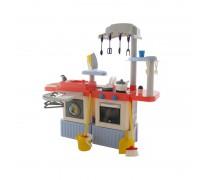 Virtuvėlė su skalbimo mašina, priedais, valymo komplektu ir tekančiu vandeniu | InFinity | Wader 42361