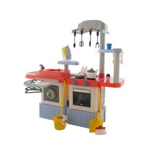 Vaikiška virtuvėlė su skalbimo mašina, priedais ir valymo komplektu | InFinity | Wader 42361