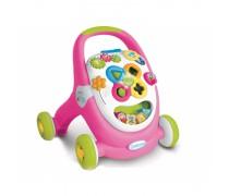 Vaikštukas stumdukas su žaislais | Rožinis | Baby Walker | Smoby 211376