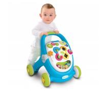 Vaikštukas stumdukas su žaislais | Mėlynas | Baby Walker | Smoby 211376